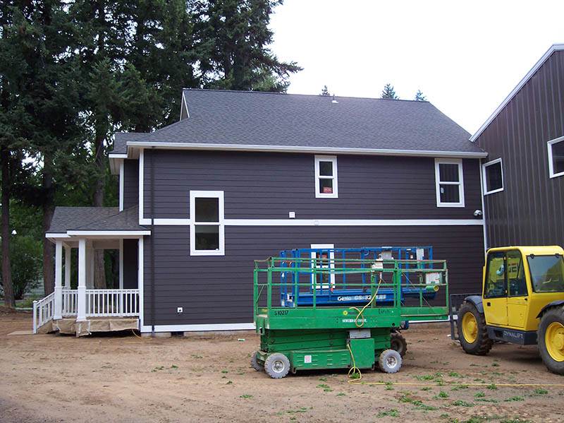 Side View of New Home